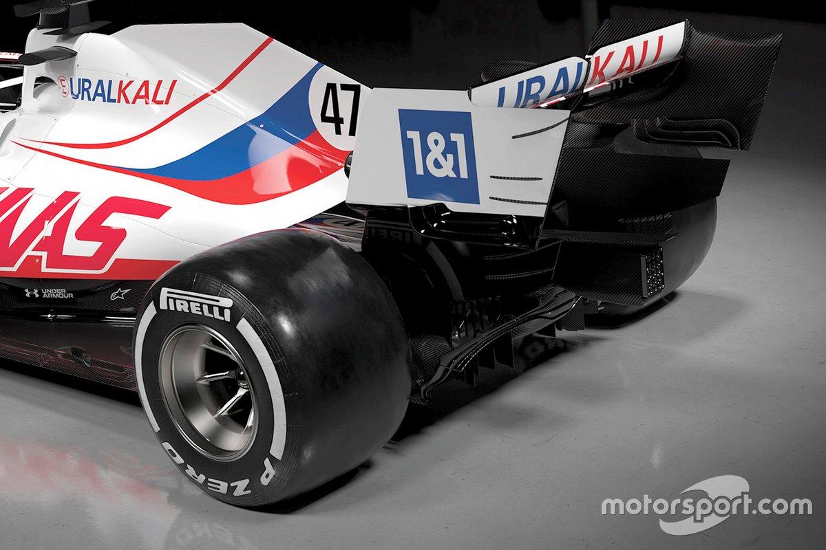 Detalle de la parte trasera del Haas VF-21