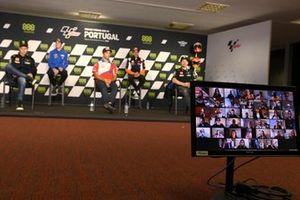 Miguel Oliveira, Red Bull KTM Factory Racing, Fabio Quartararo, Yamaha Factory Racing, Joan Mir, Team Suzuki MotoGP, Johann Zarco, Pramac Racing, Marc Márquez, Repsol Honda Team, Maverick Viñales, Yamaha Factory Racing, media