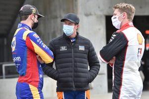 Alexander Rossi, Andretti Autosport Honda, Scott Dixon, Chip Ganassi Racing Honda, Josef Newgarden, Team Penske Chevrolet