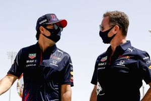Sergio Perez, Red Bull Racing and Christian Horner, Team Principal, Red Bull Racing