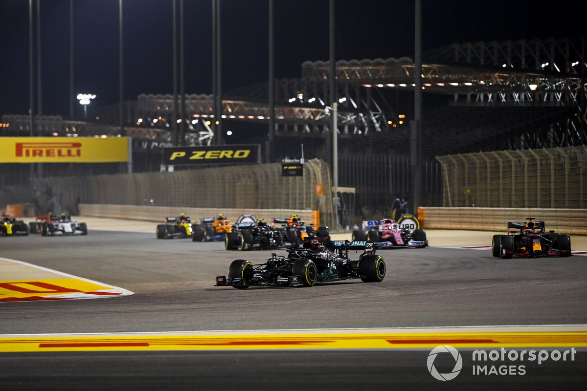 Lewis Hamilton, Mercedes F1 W11, Max Verstappen, Red Bull Racing RB16, Sergio Pérez, Racing Point RP20, Alex Albon, Red Bull Racing RB16, Valtteri Bottas, Mercedes F1 W11