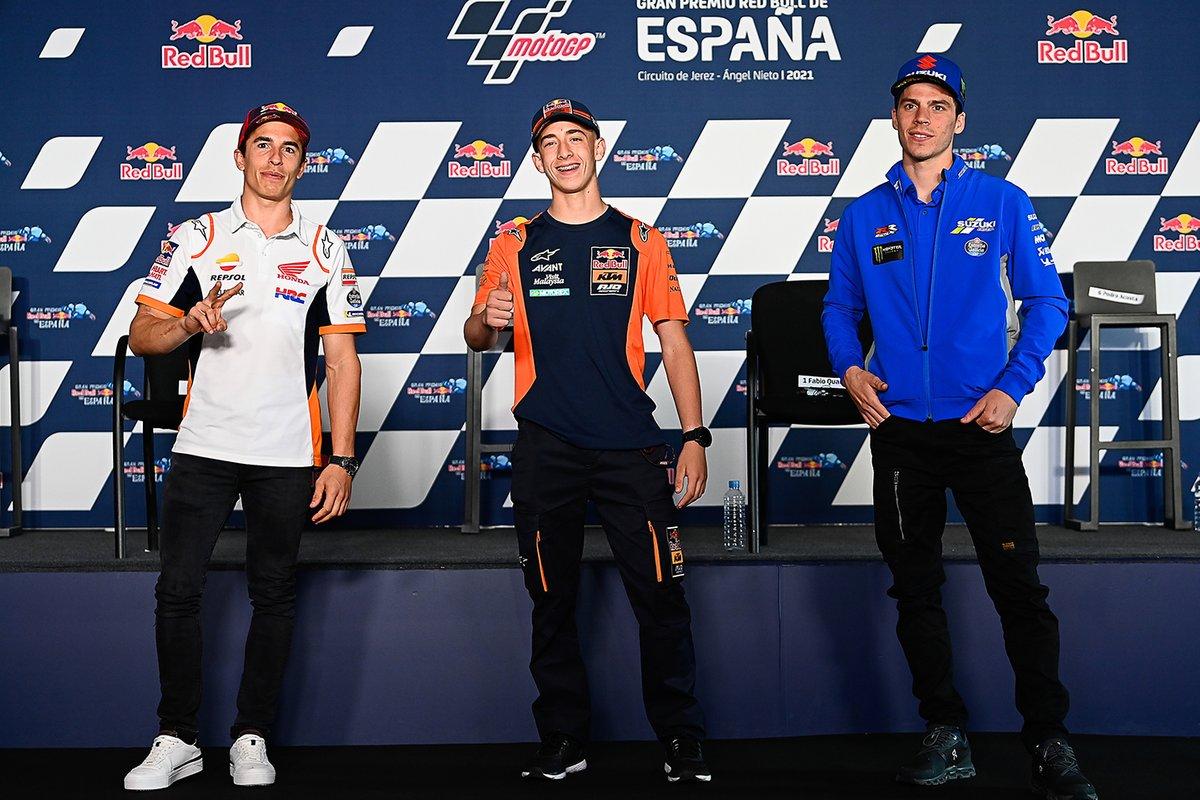 Marc Márquez, Repsol Honda Team, Pedro Acosta, Ajo Motorsport, Joan Mir, Team Suzuki MotoGP