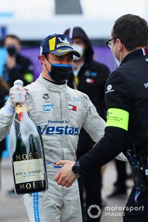 Nyck de Vries, Mercedes-Benz EQ, 1st position, celebrates in Parc Ferme