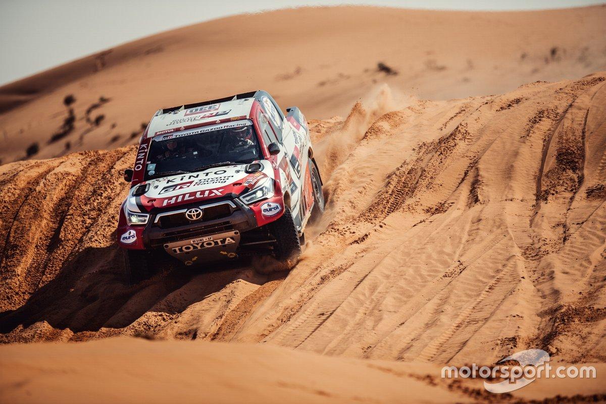 Toyota Gazoo Racing en acción en el Dakar 2021