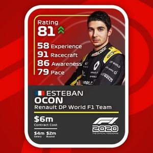 Cartas del F1 2020 definitivas: Esteban Ocon