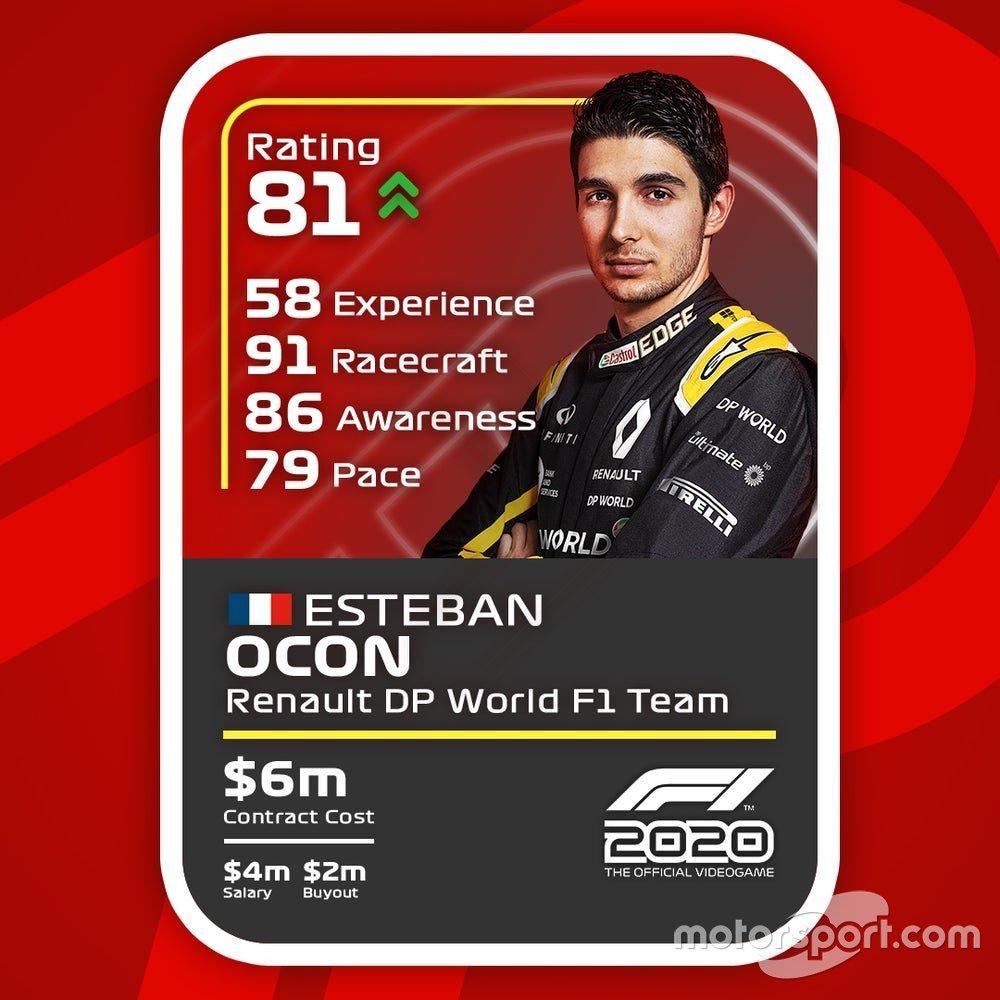 Cartas del F1 2020 definitivas: Esteban Ocon