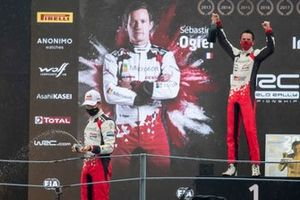 Podium: Sébastien Ogier, Julien Ingrassia, Toyota Gazoo Racing WRT Toyota Yaris WRC