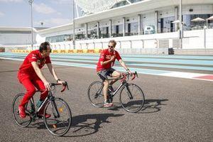 Sebastian Vettel, Ferrari, cycles the circuit