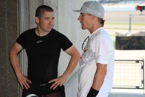 Nicky Hayden, Ducati Team, mit Bruder Roger Hayden