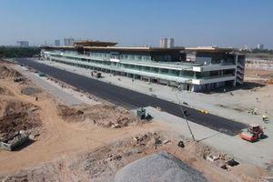 Construcción del edificio de pits de Hanoi
