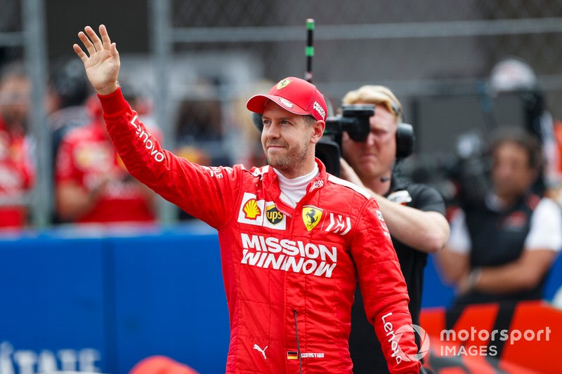 Sebastian Vettel, Ferrari, after Qualifying