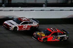 Martin Truex Jr., Joe Gibbs Racing, Toyota Camry Bass Pro Shops, John Hunter Nemechek, Front Row Motorsports, Ford Mustang Citgard
