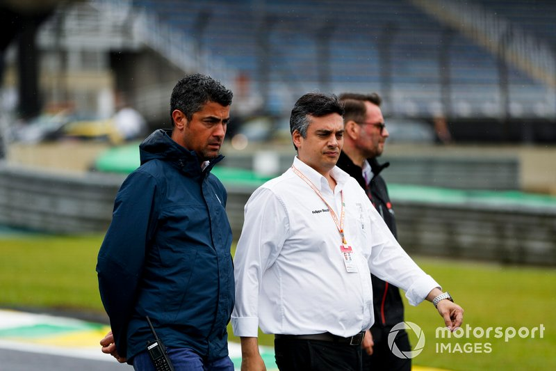 Michael Masi, Race Director walks the track