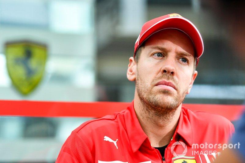 Sebastian Vettel, Ferrari speaks to the media