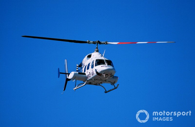 Greg Moore is evacuated by helicopter