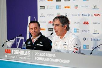 Roger Griffiths, Team Principal, BMW i Andretti Motorsport, Mark Preston, Team Principal, DS Techeetah in the press conference