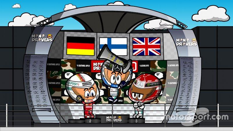 El GP de Japón de F1 según MiniDrivers