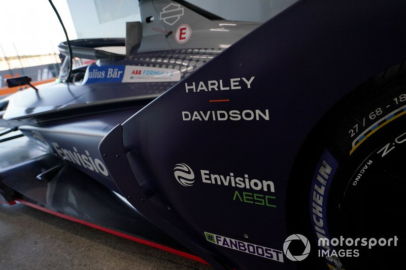 Sponsors on the Envision Virgin Racing, Audi e-tron FE06
