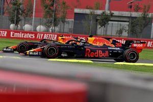 Alex Albon, Red Bull RB15, leads Max Verstappen, Red Bull Racing RB15