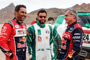 #300 Toyota Gazoo Racing: Nasser Al-Attiyah, #324 X-Raid Mini: Yasir Seaidan, #305 JCW X-Raid Team: Carlos Sainz
