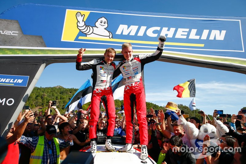 Campeón Mundial Ott Tänak, Martin Järveoja, Toyota Gazoo Racing WRT Toyota Yaris WRC