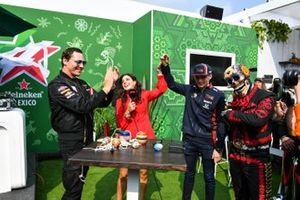 DJ Tiesto meets Max Verstappen, Red Bull Racing, in the Heineken fan zone area