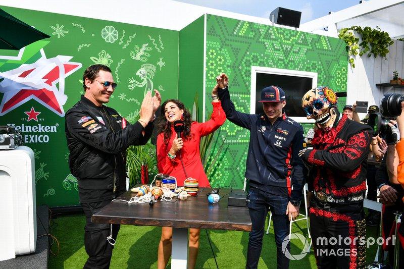 DJ Tiesto meets Max Verstappen, Red Bull Racing, in the Heineken fan zone area