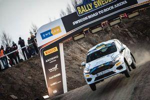 Tom Kristensson, Joakim Sjoberg, Ford Fiesta R2T, Rally Sweden, JWRC