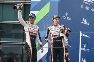 Podium: #8 Toyota Gazoo Racing Toyota TS050 - Hybrid: Sébastien Buemi, Brendon Hartley