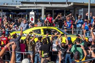 Brandon Jones, Joe Gibbs Racing, Toyota Supra Menards/Turtle Wax drives to victory lane
