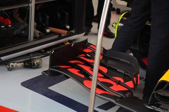 Red bull Racing RB16, dettaglio dell'ala anteriore