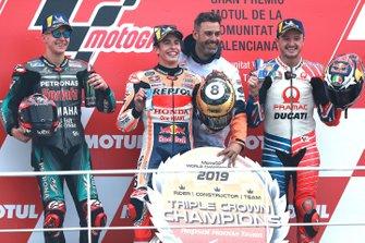 Podio: il vincitore della gara Marc Marquez, Repsol Honda Team, il secondo classificato Fabio Quartararo, Petronas Yamaha SRT, il terzo classificato Jack Miller, Pramac Racing