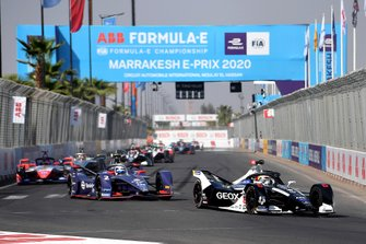 Brendon Hartley, Dragon Racing, Penske EV-4, Sam Bird, Virgin Racing, Audi e-tron FE06, Pascal Wehrlein, Mahindra Racing, M6Electro