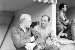 Mike Hawthorn, Ferrari and Stirling Moss, Vanwall