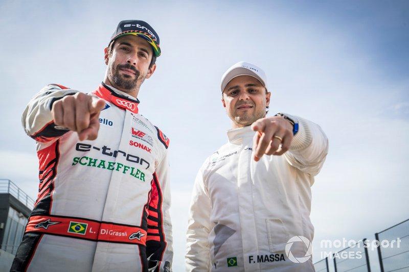 Pilotos brasileños Lucas Di Grassi, Audi Sport ABT Schaeffler, Felipe Massa, Venturi