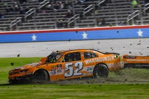 David Starr, Means Motorsports, Chevrolet Camaro Whataburger, wrecks coming out of turn 4