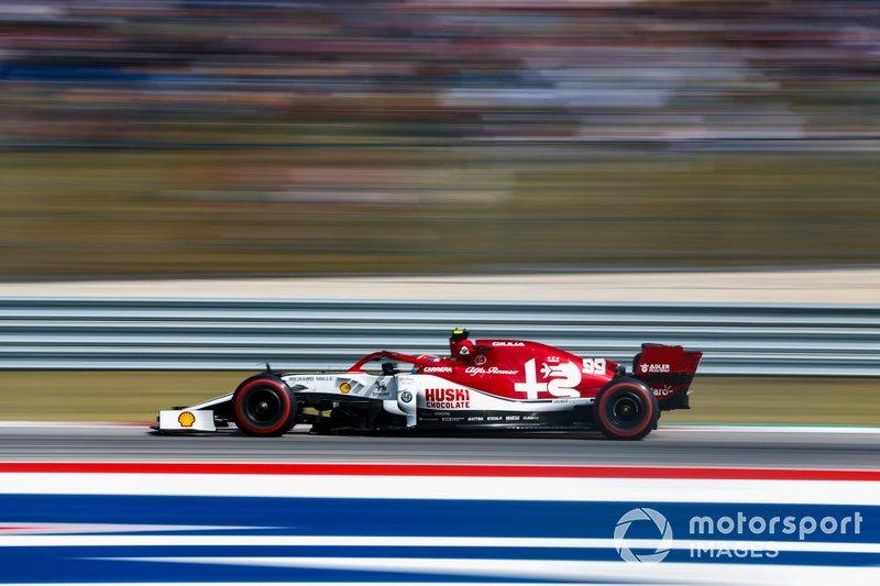 14º: Antonio Giovinazzi, Alfa Romeo Racing C38