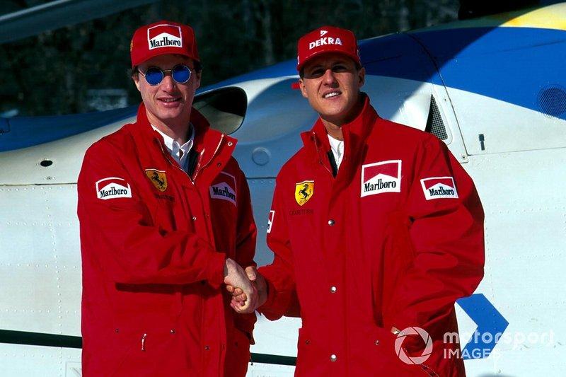 …так что в Ferrari напарником Шумахера стал Эдди Ирвайн. Задиристый североирландец хорошо зарекомендовал себя в Jordan и польстился на зарплату от Скудерии – даже понимая, что будет играть там лишь роль второго плана