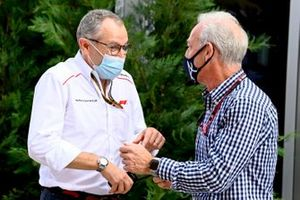 Stefano Domenicali, CEO, Formula 1, with Greg Maffei, CEO, Liberty Media Corporation