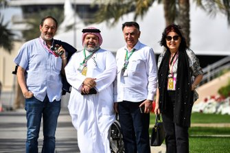 VIP guests in the paddock