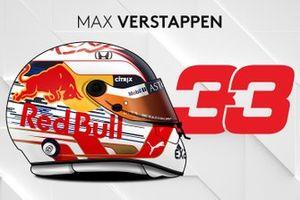 El casco 2019 de Max Verstappen