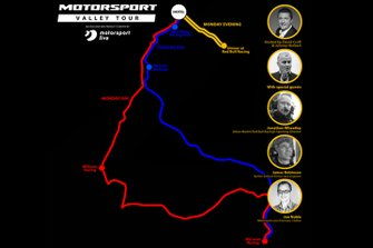 Motorsport Live - Motorsport Valley Tour map