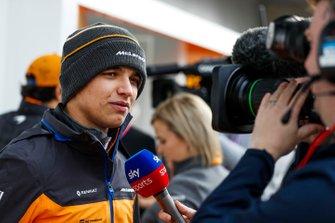 Ландо Норріс (McLaren) дає інтерв'ю