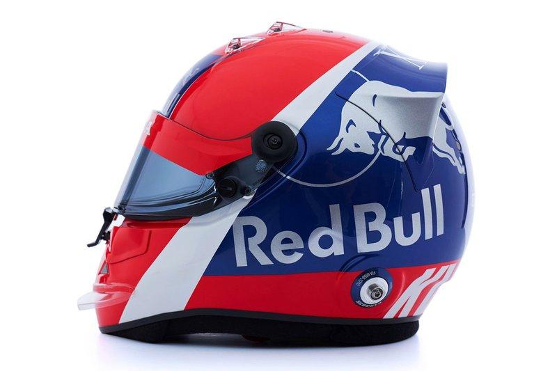 Le casque de Daniil Kvyat, Scuderia Toro Rosso