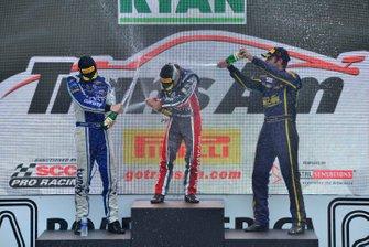 TA2 podium finishers Matt Tifft, Ty Majeski, and Scott Lagasse Jr.