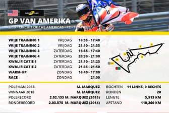 Tijdschema MotoGP Grand Prix van Amerika
