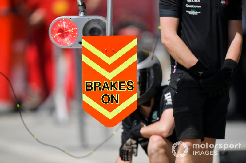 Brakes on sign