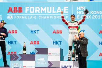 Lucas Di Grassi, Audi Sport ABT Schaeffler celebrates 3rd position on the podium