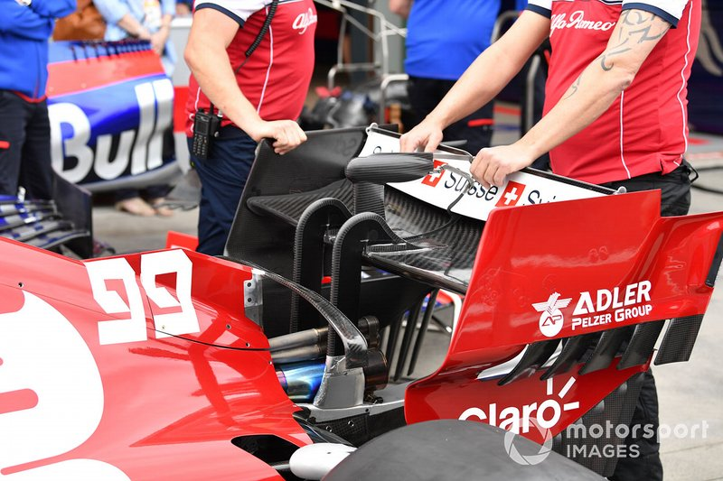 Rear wing of the Alfa Romeo Racing C38