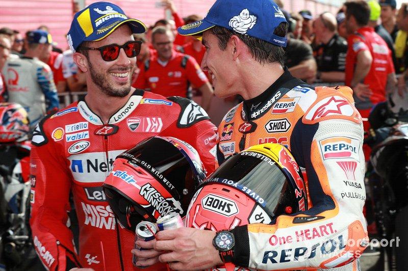 1. Marc Marquez, Repsol Honda Team, 3. Andrea Dovizioso, Ducati Team